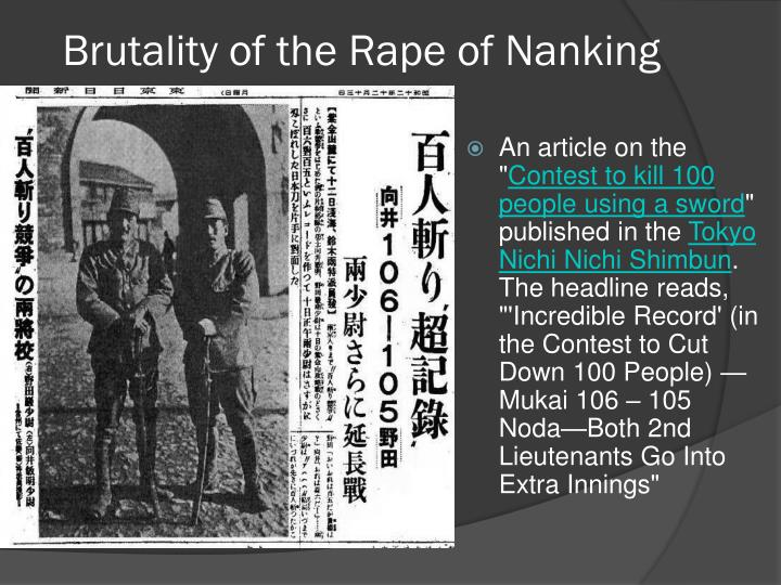 Brutality of the Rape of Nanking