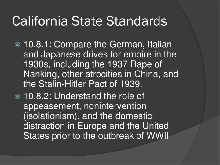 California State Standards