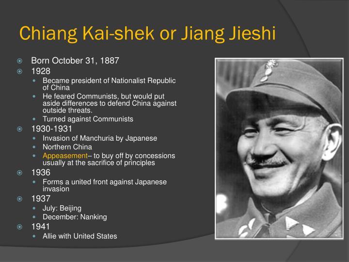 Chiang Kai-shek or Jiang