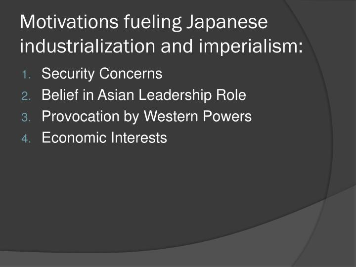 Motivations fueling Japanese