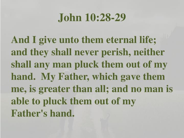 John 10:28-29