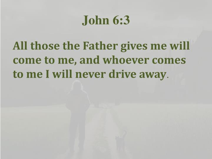 John 6:3