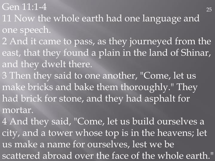Gen 11:1-4