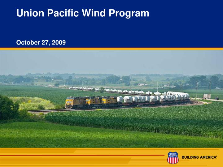 Union pacific wind program