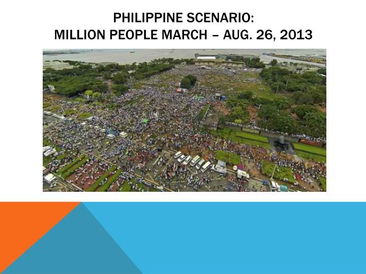 Philippine scenario: