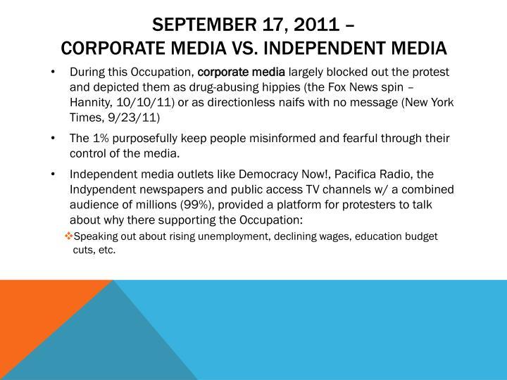 September 17, 2011 –