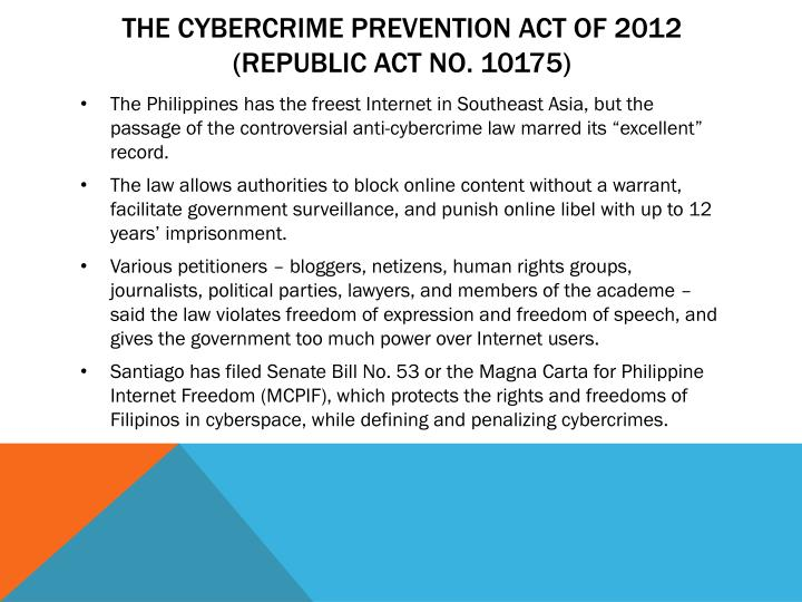 The Cybercrime Prevention Act of