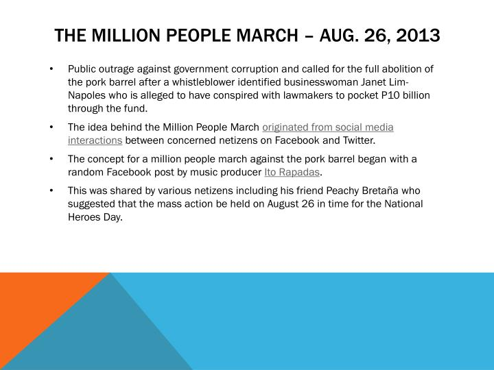 The million people march –