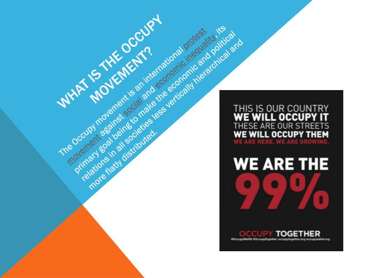 What is the occupy movement?