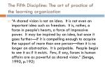 the fifth discipline the art of practice of the learning organization