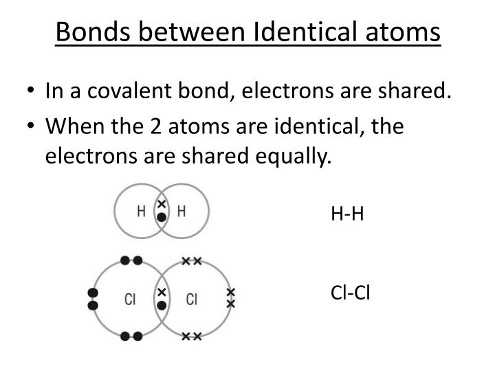 Bonds between Identical atoms