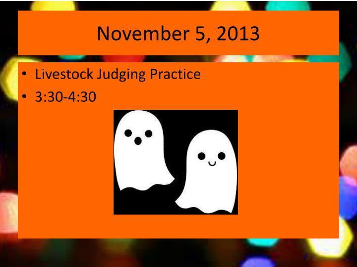 November 5, 2013