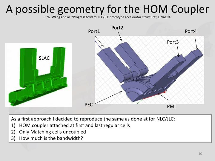 A possible geometry for the HOM Coupler