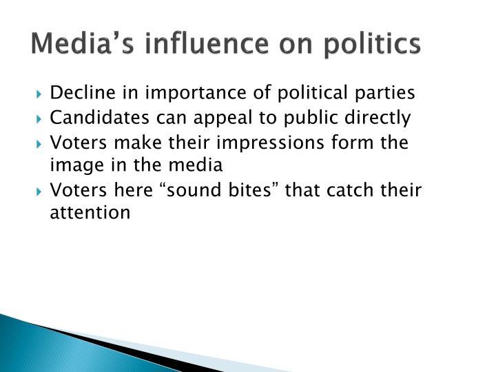 Media's influence on politics