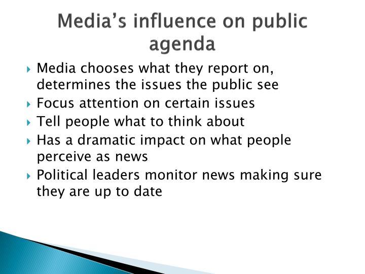 Media's influence on public agenda