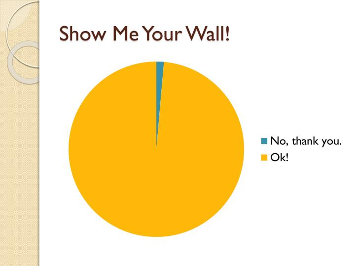 Show Me Your Wall!