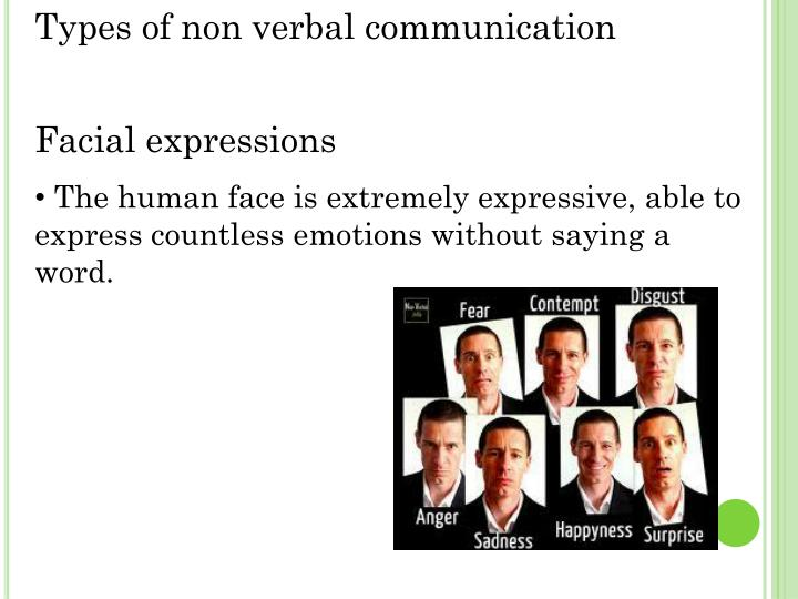 Types of non verbal communication