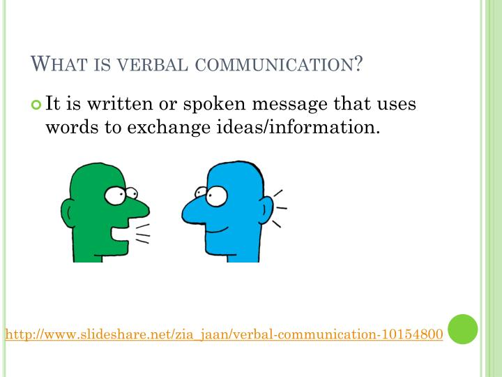 What is verbal communication?