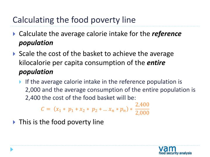 Calculating the food poverty line