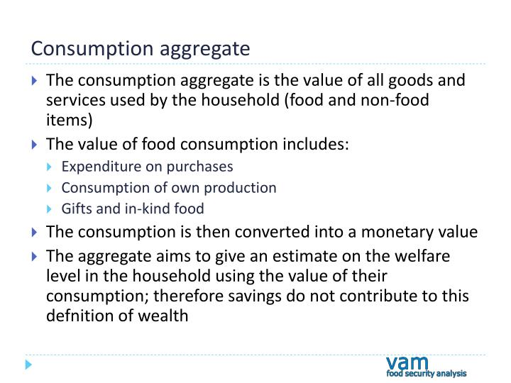 Consumption aggregate