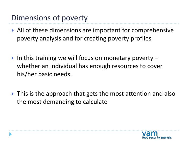 Dimensions of poverty