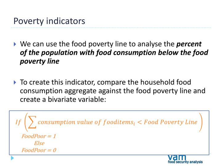Poverty indicators