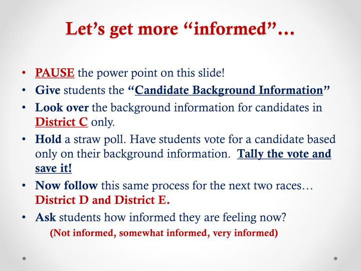"Let's get more ""informed""…"