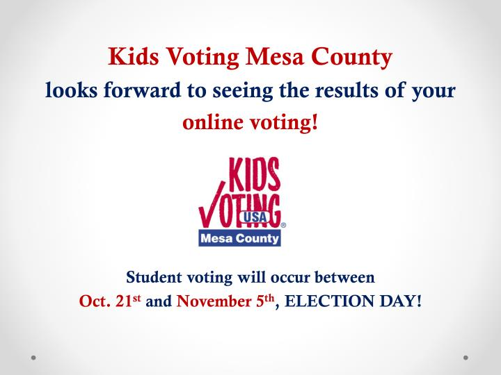 Kids Voting Mesa County