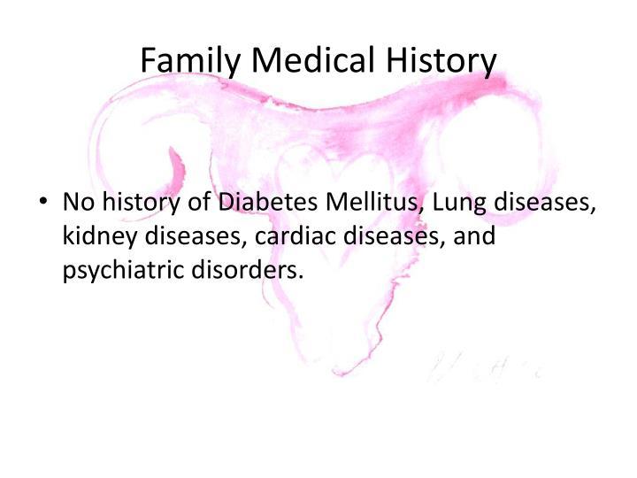 Family Medical History
