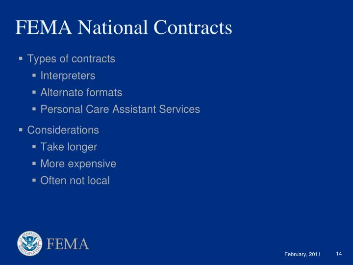 FEMA National Contracts