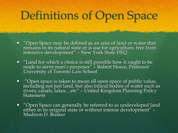 Definitions of Open Space