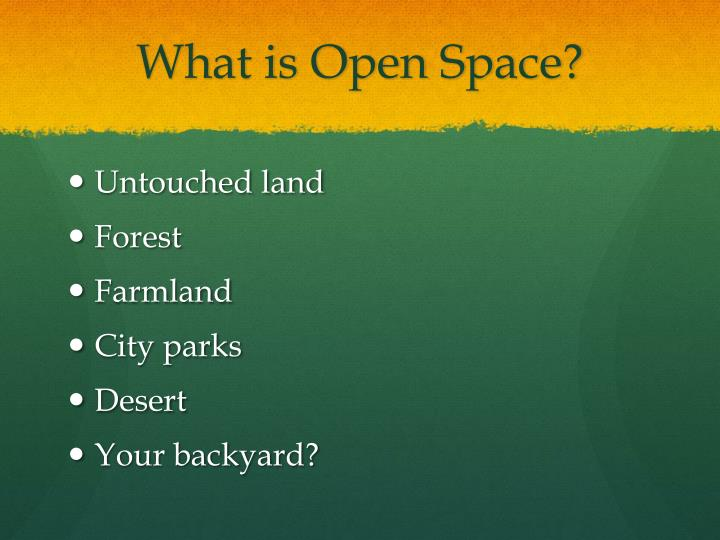 What is Open Space?