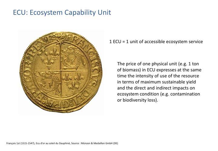 ECU: Ecosystem Capability Unit