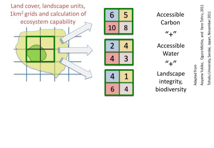 Land cover, landscape units,  1km