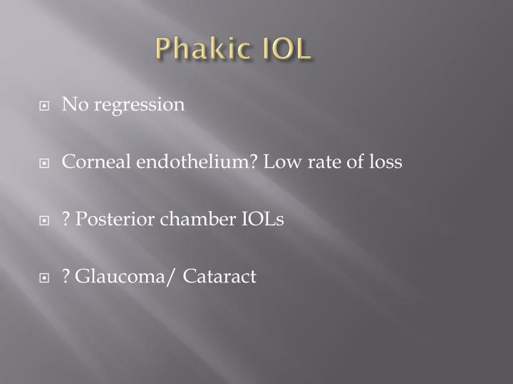 Phakic IOL
