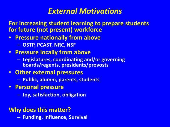 External Motivations