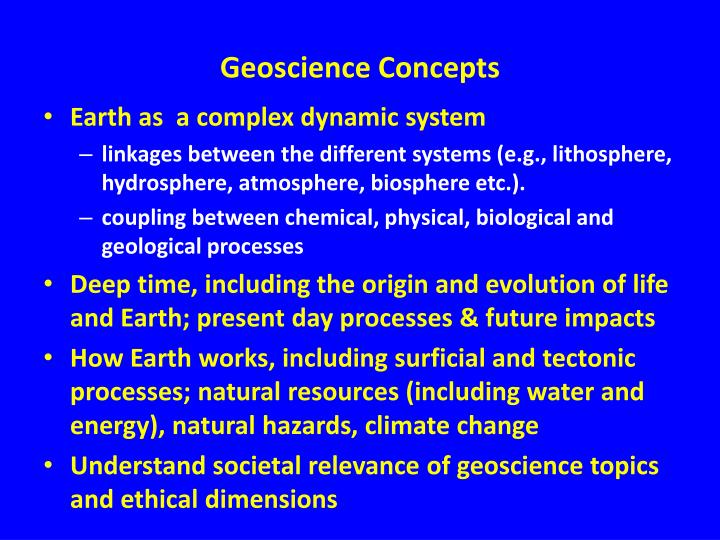 Geoscience Concepts