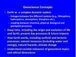 geoscience concepts