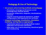 pedagogy use of technology