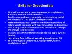 skills for geoscientists