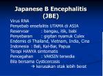 japanese b encephalitis jbe