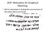 ocr motivation for graphical matching4