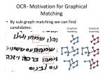 ocr motivation for graphical matching5