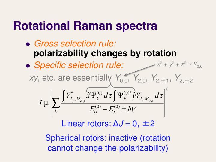 Rotational Raman spectra