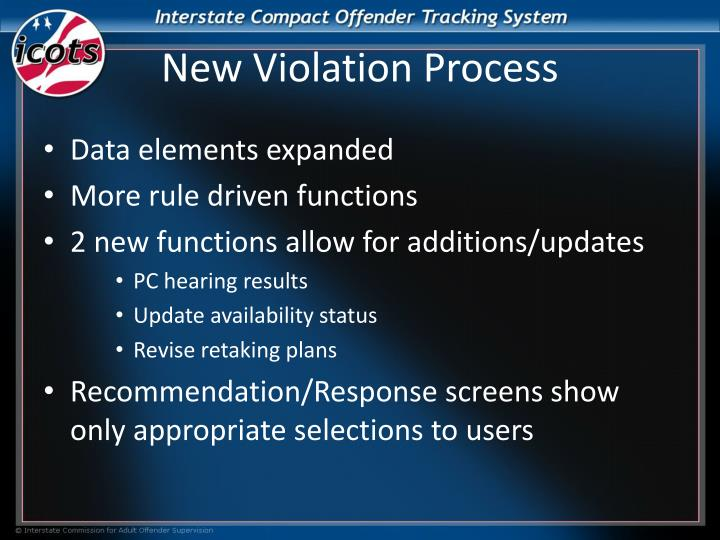 New Violation Process
