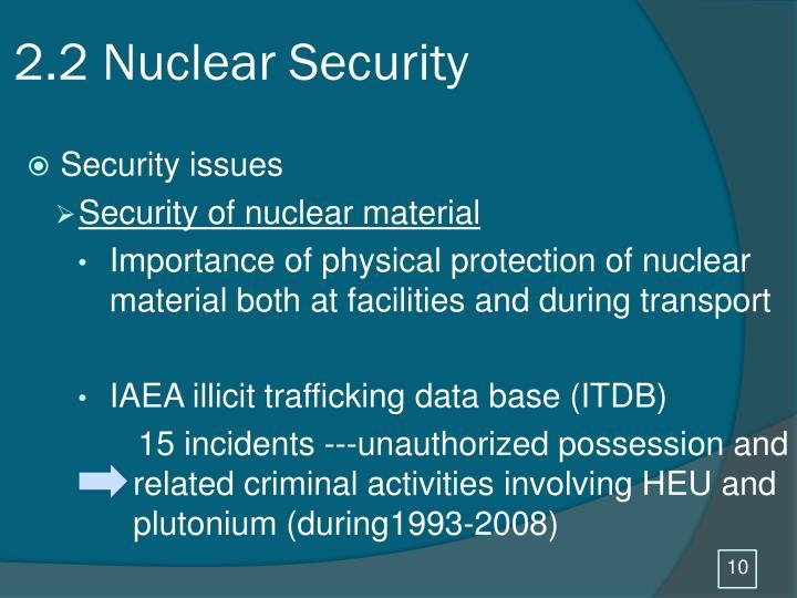 2.2 Nuclear Security