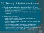 2 2 security of radioactive sources