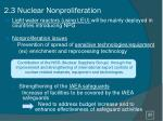 2 3 nuclear nonproliferation