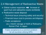 2 4 management of radioactive w aste