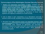 communiqu of the washington nuclear security summit1